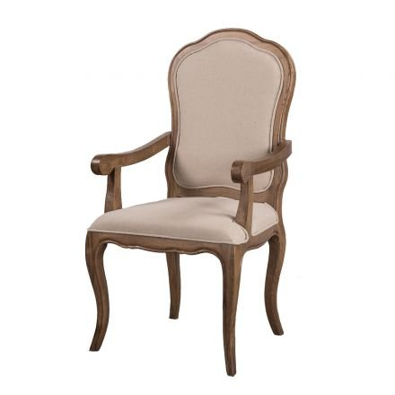 French Provincial Furniture Natural Oak  Dining Arm Chair