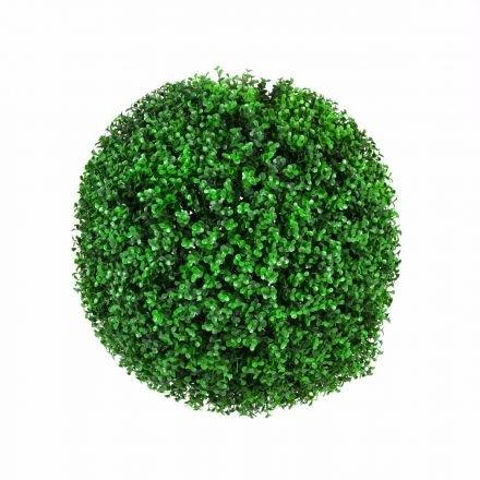 Large Green Leaf Buxus 'faulkner' Topiary Ball 48cm Uv Stabilised