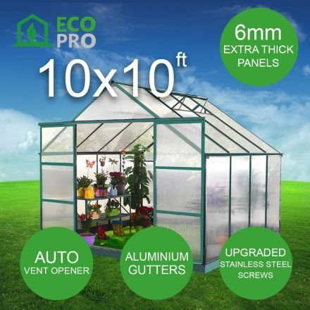 EcoPro 10x10ft Greenhouse 2.70m high