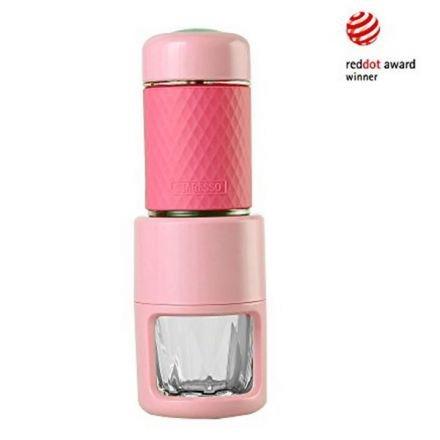 Staresso Coffee Maker Red Dot Award Winner Portable Espresso Cappuccino Quick Cold Brew Manual Coffee Maker Machines All In One - Pink