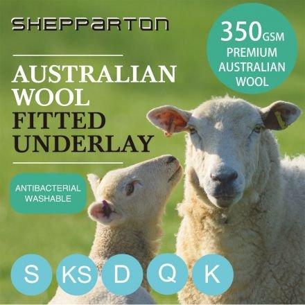 Australian Wool Underlay Underblanket Fully King - Shepparton