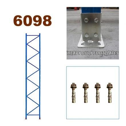 Pallet Racking Upright Frame 6098mm