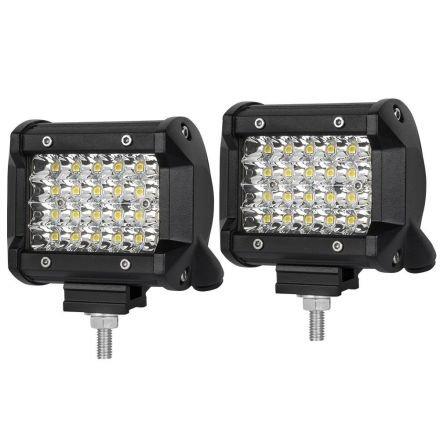 Pair 4 Inch Spot Led Work Light Bar Philips Quad Row 4wd 4x4 Car Reverse Driving