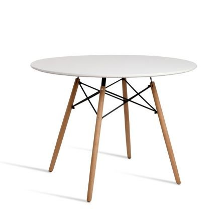 Round 4 Seater Dining Table White
