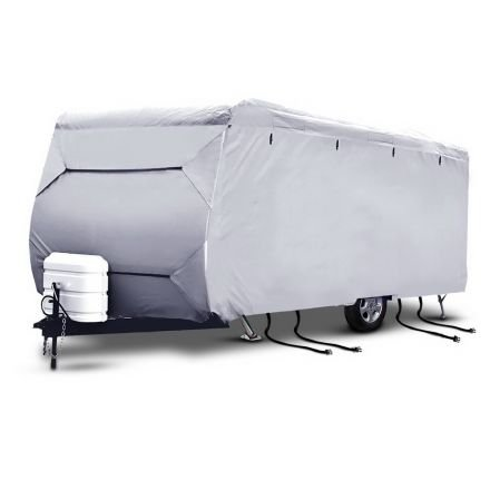 4 Layers 4 Side Open Caravan Campervan Cover Straps 20-22ft
