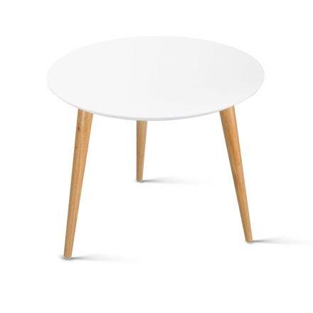 Round Side Table  White