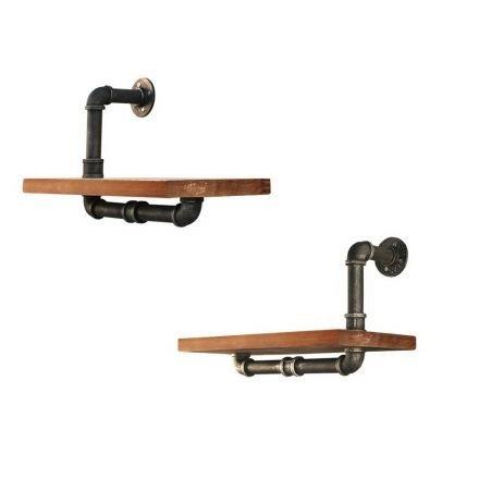 Rustic Industrial Diy Floating Pipe Shelf Half N Half 45cm