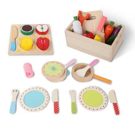 Children Wooden Kitchen 3 In 1 Play Set