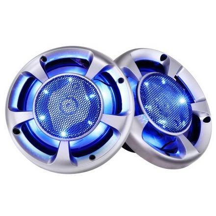 Set Of 2 Maxturbo Car Speakers W/ Led Light 500w