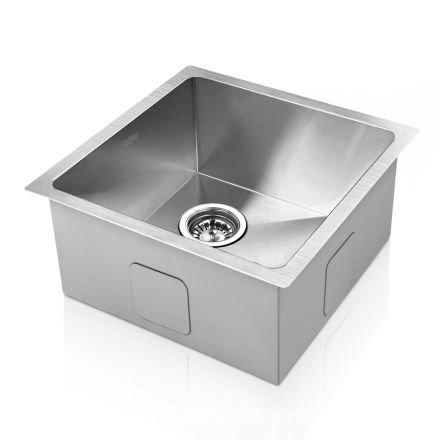 Stainless Steel Kitchen/laundry Sink W/ Strainer Waste 440 X 440 Mm