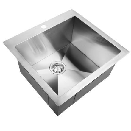 Stainless Steel Kitchen Laundry Sink W/ Strainer Waste 530 X 500mm