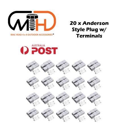 20x Anderson Style Plug Connector 50amp Caravan Trailer Solar 6awg Grey