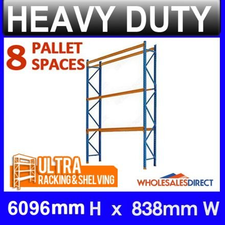 Ultra 6096mm H x 838mm Pallet Racking 8 Space Package - Dexion Compatible