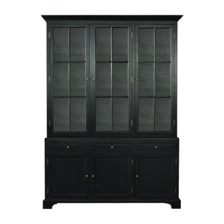 French Provincial Hamptons Buffet and Hutch Glass Display Cabinet White or Black