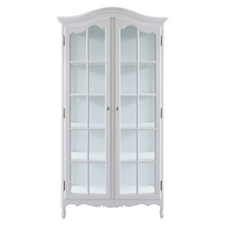 French Provincial Classic Glass Display Cabinet /Bookcase
