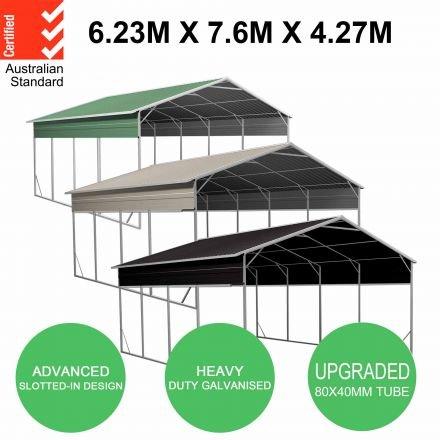 Carport 6.23 x 7.6 x 4.27m Backyard Boat Portable Vehicle Shelter