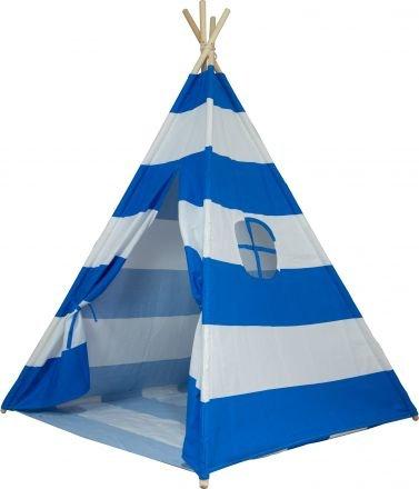 Large Cotton Canvas Stripe Teepee Kid Tent Indoor Playhouse Wigwarm