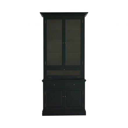 Hampton Halifax 3 Glass Door Hutch Display Buffet Cabinet Cupboard