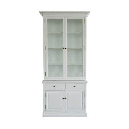 Hampton Halifax 2 Glass Door Hutch Display and Buffet Cabinet Cupboard