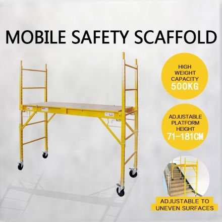 500KG Mobile Safety Scaffold Scaffolding High Work Platform Ladder Tool Portable