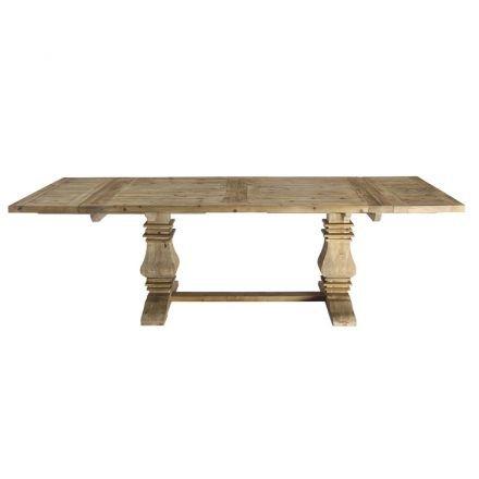 Hamptons Style Extendable Pedestal Dining Table 180 - 260cm
