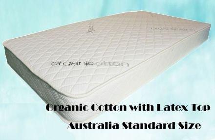 Organic Cotton with Latex Top Cot Mattress Baby Cot Mattress Australia Standard Size