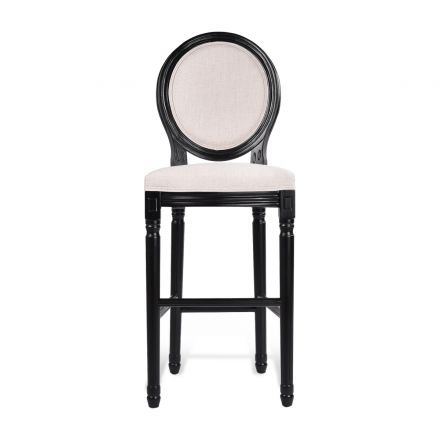 Louis Bar Stool French Provincial in White Black or Washed Oak