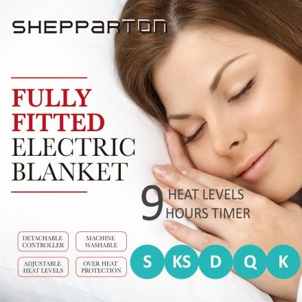 Electric Blanket Heated Underlay Fleecy Fully Fitted Single, Double, King Single, Queen, King - Shepparton