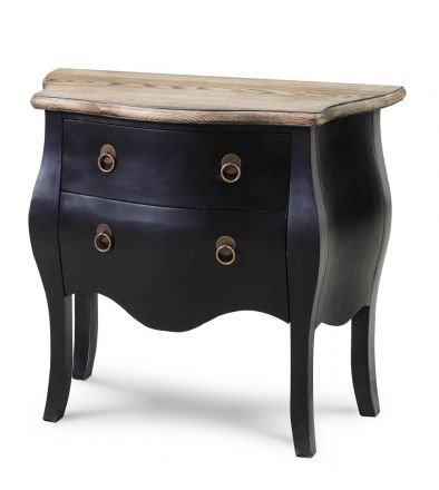 French Provincial Furniture High Quality Commode Chest with Drawers in Vintage Black