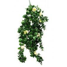 Hanging White Rose Stem Uv 85cm