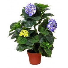 Artificial Hydrangea 74cm - Mixed Purples And Yellows