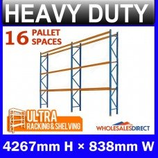 Pallet Racking 2 Bay System 4267mm High 16 Pallet Spaces