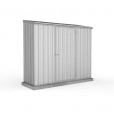 Absco 2.26mw X 0.78md X 1.95mh Space Saver Garden Shed Zincalume