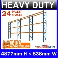 Pallet Racking 3 Bay System 4877mm High 24 Pallet Spaces