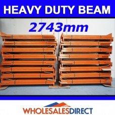 Pallet Racking Beam 2743 x 100mm 2100kg Heavy Duty