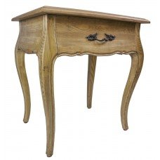 French Provincial - Bedside Table with One Drawer Natural Oak