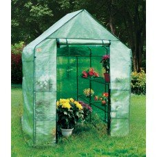 EcoPro 143 x 143 x 195cm Walk-in Tunnel Greenhouse PE Cover Plant Garden Green Shade
