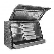 Giantz Aluminium Toolbox Generator Tool Box Drawers Truck Canopy Trailer Locks