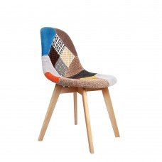 Set Of 2 Replica Eames Dining Chairs Fabric