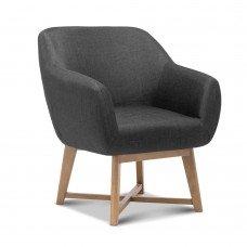 Artiss Aston Tub Accent Chair Charcoal