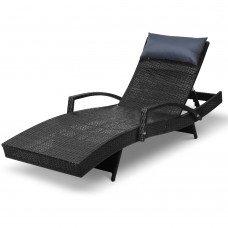 Gardeon Outdoor Sun Lounge Furniture Day Bed Wicker Pillow Sofa Set