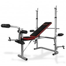 7-in-1 Weight Bench Grey