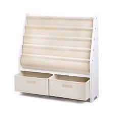 4 Tier Wooden Kids Bookshelf - White