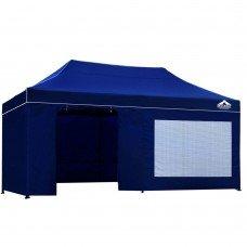 3x6 Pop Up Gazebo Hut With Sandbags Blue
