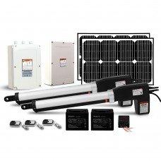 Lockmaster 40w Solar Power Swing Gate Opener Auto Electric Remote Control 1000kg