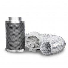 "Greenfingers 4"" Hydroponics Grow Tent Kit Ventilation Kit Fan Carbon Filter Duct"