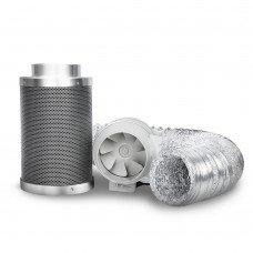 "Greenfingers 6"" Hydroponics Grow Tent Kit Ventilation Kit Fan Carbon Filter Duct"