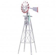 Garden Windmill 4ft 146cm Metal Ornaments Outdoor Decor Ornamental Wind Will