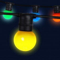 Jingle Jollys 23m Led Festoon String Lights 20 Bulbs Kits Wedding Party Christmas G45