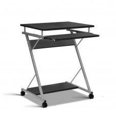 Computer Desk With Shelf Black